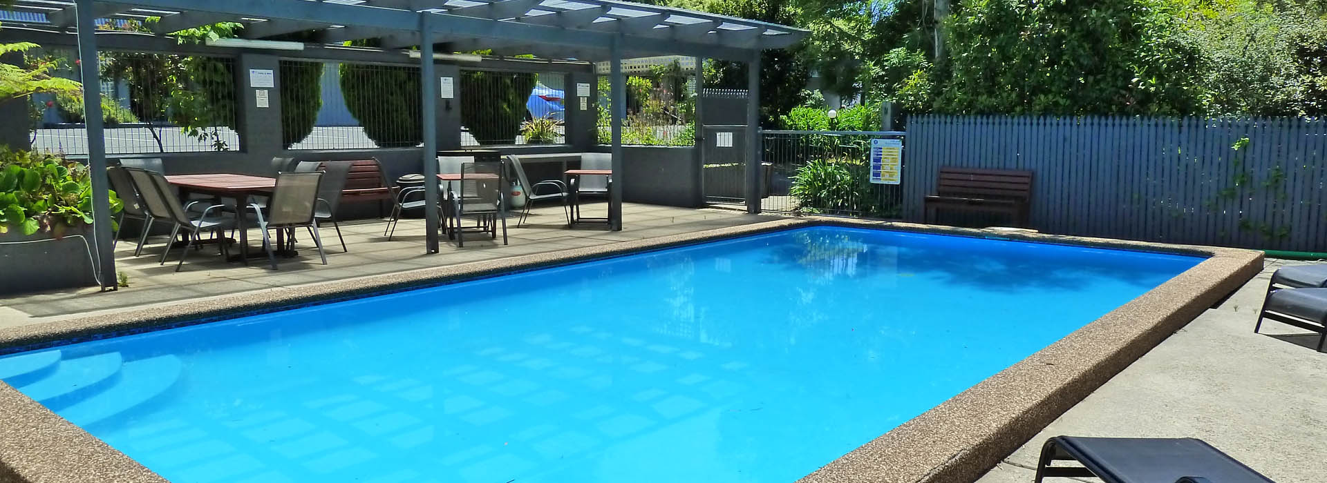 Relax and enjoy our popular salt water swimming pool and BBQ area.